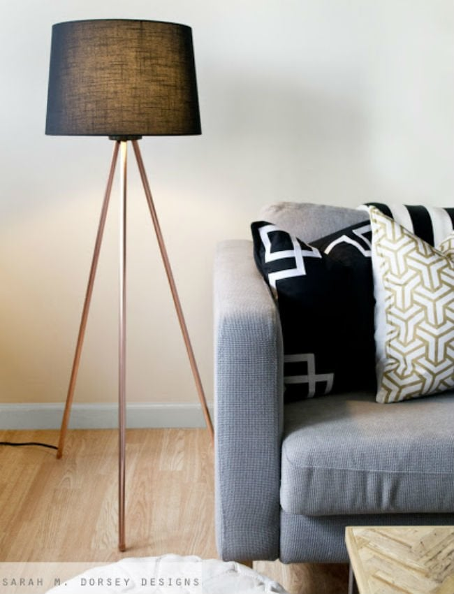 diy floor lamp - end