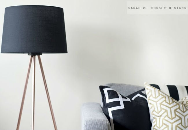 diy floor lamp - open