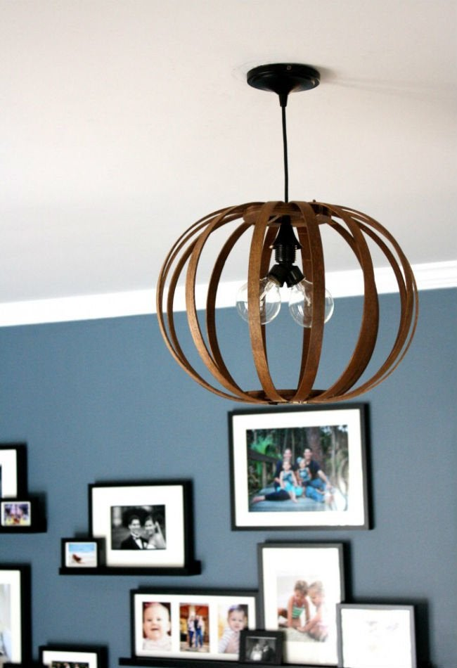 diy pendant light - open