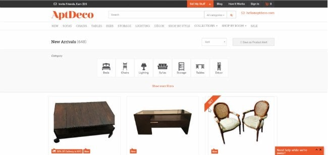 Selling Used Furniture - AptDeco