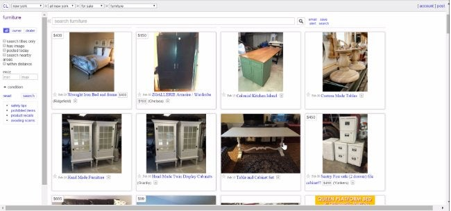 Selling Used Furniture - Craigslist