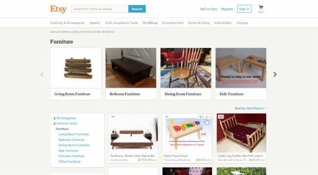 Selling Used Furniture - Etsy