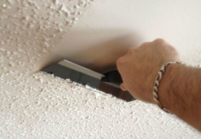 How to Remove Popcorn Ceilings - Scrape