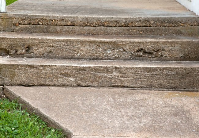 Cracked Concrete - Steps