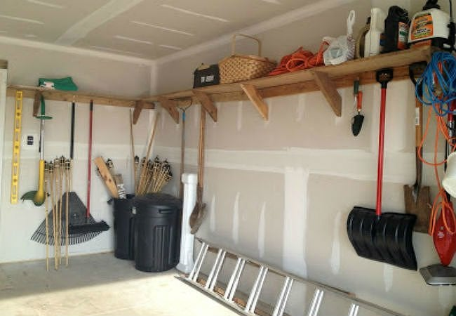 diy garage shelves high shelves