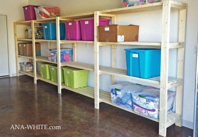 Diy Garage Shelves 5 Ways To Build Yours Bobvilacom