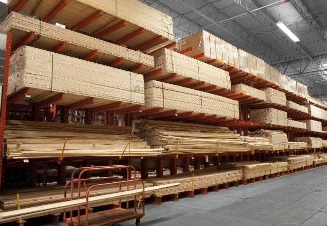 Lumber Sizes - Lumber Aisles at Home Improvement Store