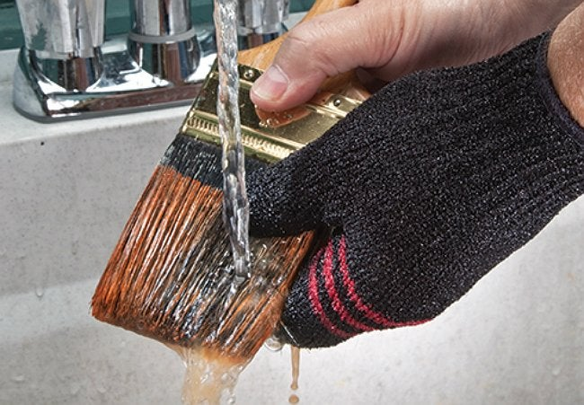 Quickly Clean Glove with Paintbrush