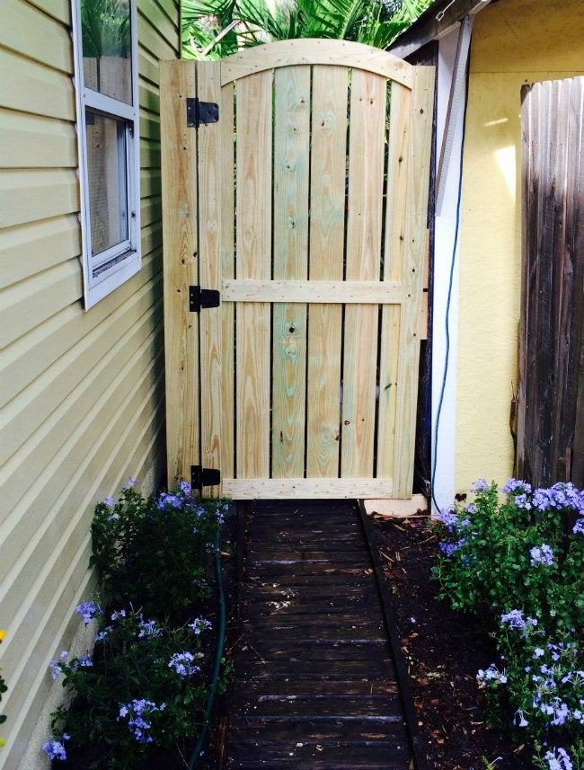 DIY Fence Gate   Tall Wooden Garden Gate
