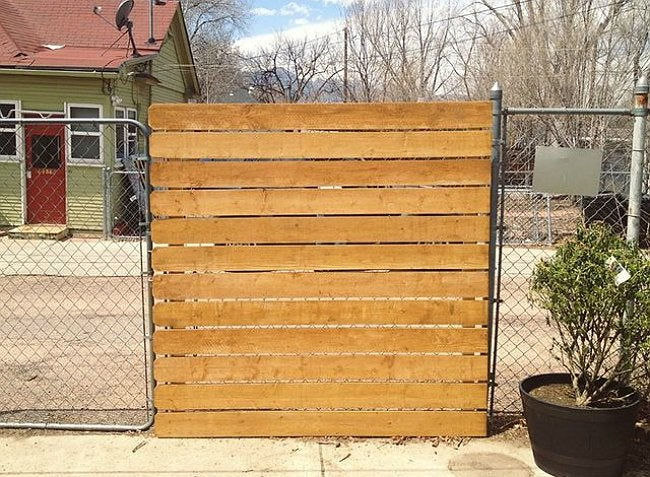 Genius the easy way to add privacy a chain link fence