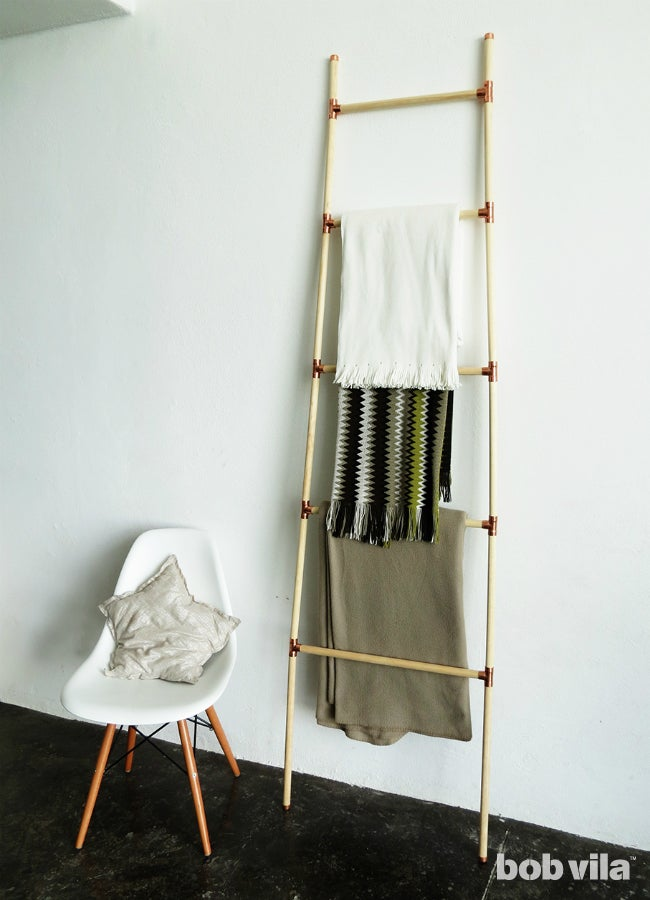 DIY Blanket Ladder - Main Image