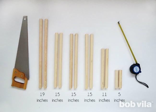 DIY Blanket Ladder - Step 1