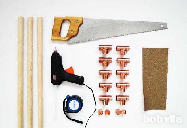 DIY Blanket Ladder - All Supplies