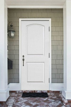 How to paint a metal door bob vila - Painting a steel exterior door model ...