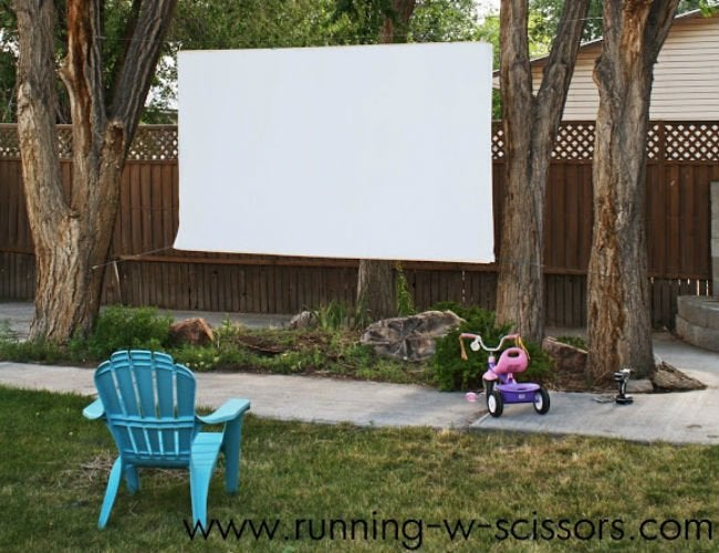 Genius! The Backyard Movie Theater You Can Build in a Day
