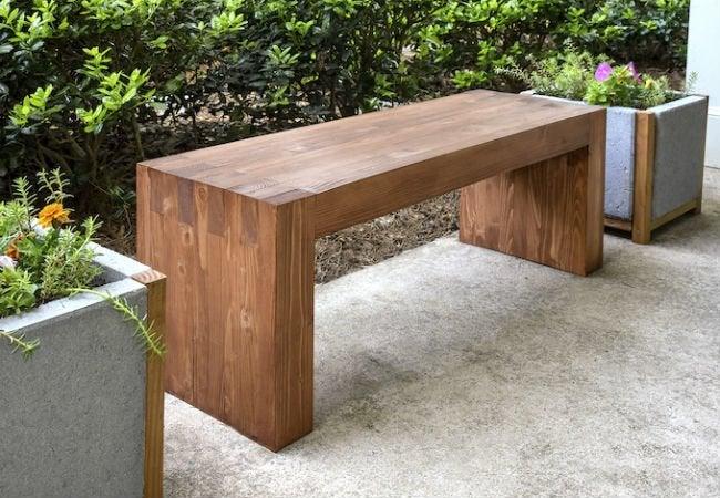 wood bench 1