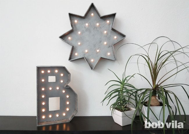 DIY Marquee Letter - Completed Lighting Project