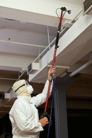 HYDE Airless Spray System with RVT Technology - Painting Ceiling