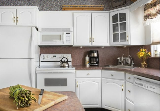 Painting Laminate Countertops - Outdated Kitchen