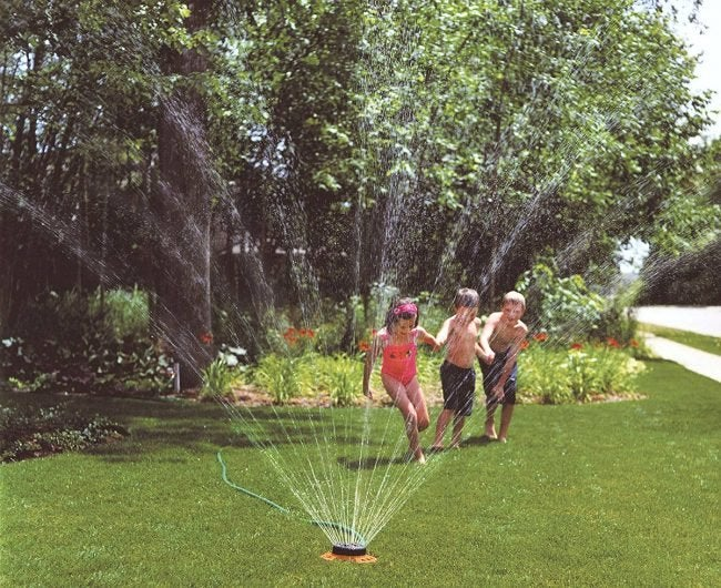Best Lawn Sprinkler for Patterned Sprinkling: Dramm 9-Pattern Turret Sprinkler