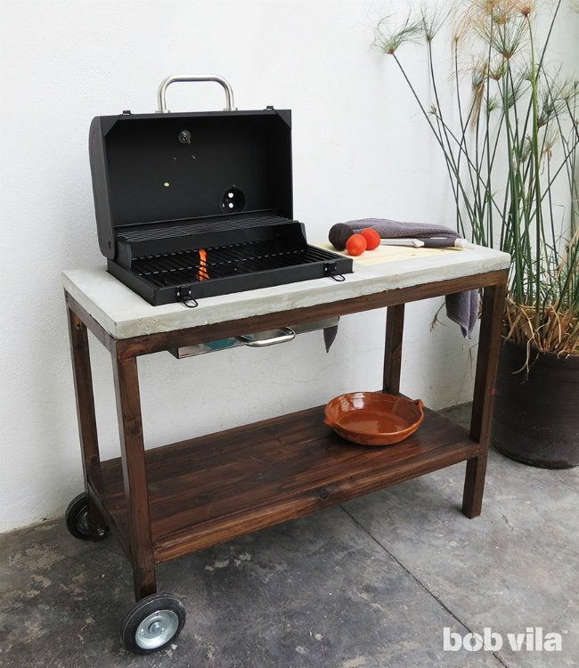 DIY Outdoor Kitchen   How To Build A Grill Cart