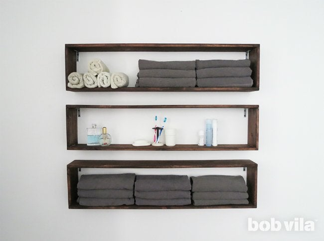 DIY Wall Shelves   Bathroom Storage