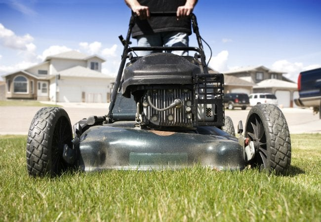 Use WD-40 EZ-REACH to Clean Mower Blades