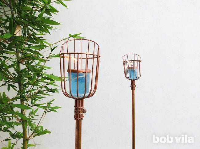 Diy Tiki Torch Tutorial Bob Vila