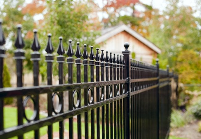 Image result for Benefits of Iron Fencing istock