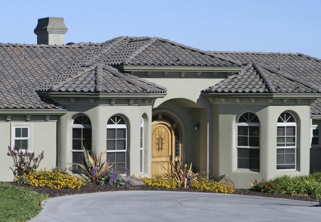 Pin stucco painted on pinterest How to plaster a house exterior