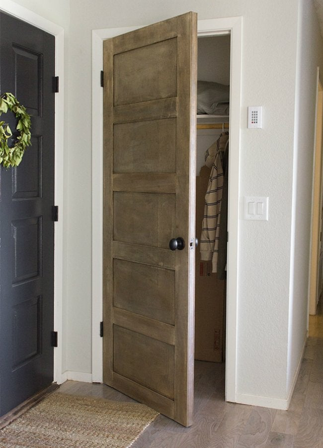 "How to Build a Door - ""Salvaged"" Closet Door by Jenna Sue Design Co."