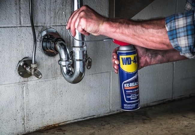WD-40 EZ-REACH Fixes Stuck Plumbing Joints Faster