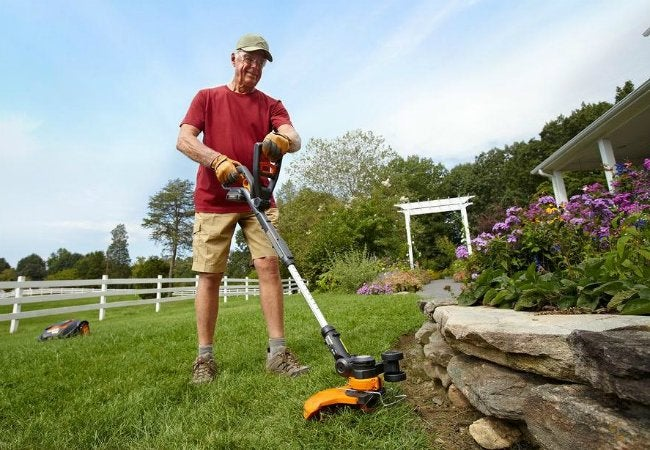 Best Lawn Edger - Worx WG160 12-Inch 20-Volt Cordless Edger available at The Home Depot