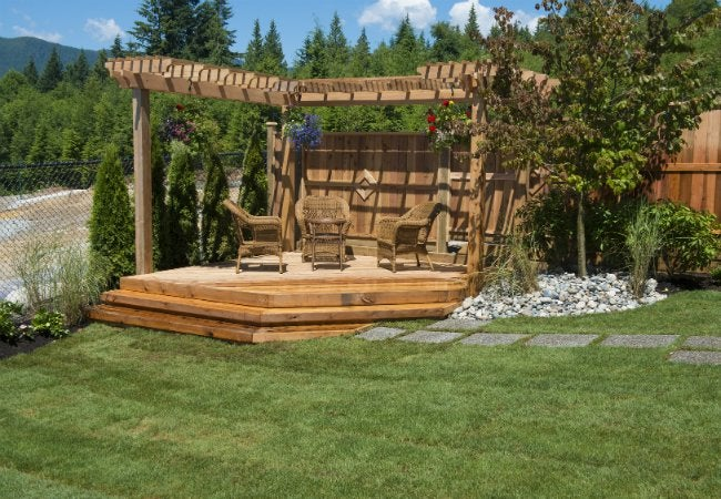 How to Build a Floating Deck - with Steps