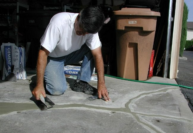 Concrete Floor Repair - Fill in Cracks with Cement All