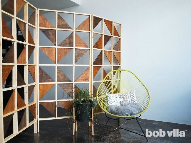 diy room divider tutorial bob vila. Black Bedroom Furniture Sets. Home Design Ideas