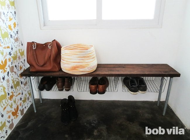 Diy Shoe Storage Bench Tutorial Bob Vila