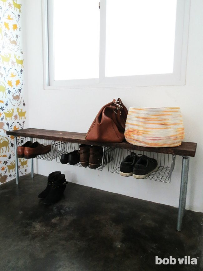DIY Shoe Storage - Completed Project