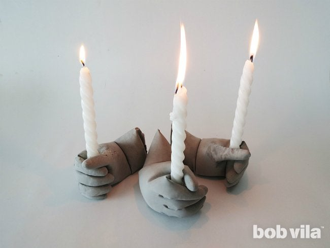 Concrete Candle Holders for Halloween