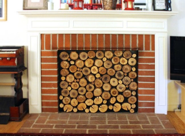 Diy draft stopper for your fireplace genius bob vila - Ideas to cover fireplace opening ...
