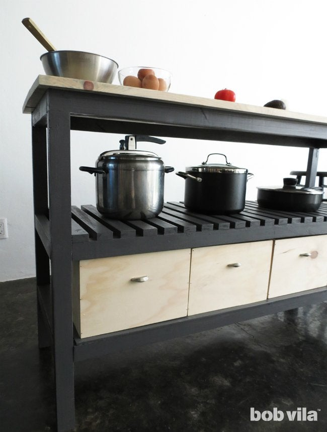How to Build a Kitchen Island with Storage