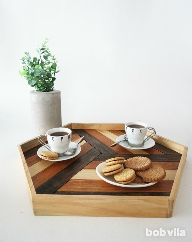 DIY Serving Tray - Completed Project