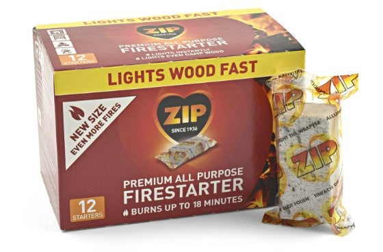Best Fire Starter - Zip Premium All Purpose Wrapped Fire Starters