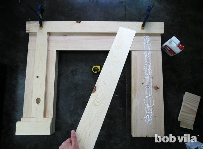 How to Build a Faux Fireplace - Step 2