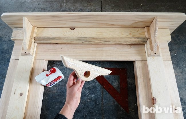How to Build a Faux Fireplace - Step 7