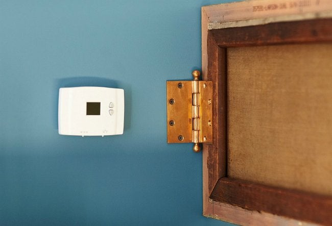 Hinged Picture Hiding Thermostat