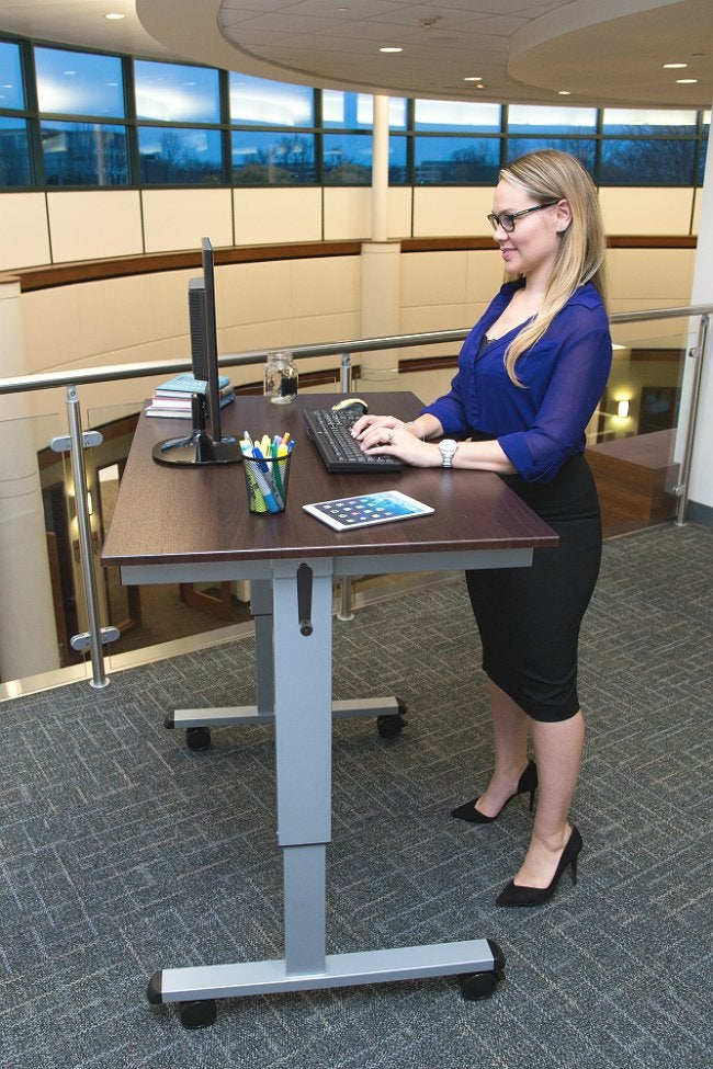 "Best Standing Desk - LUXOR 48"" Crank Adjustable Standup Desk"