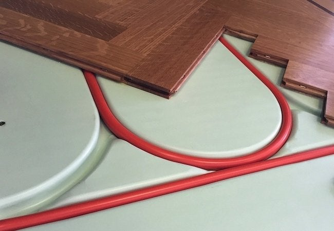Cold Floors - Radiant Heat Panel Tubing