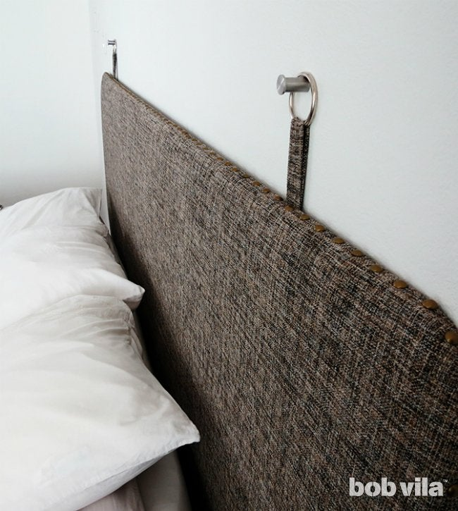 DIY Upholstered Headboard Close-Up