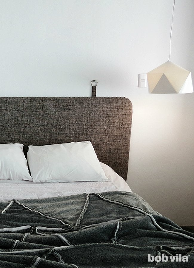 DIY Upholstered Headboard Mounted to the Wall